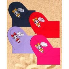 Комплект шапка и снуд 1-2 года