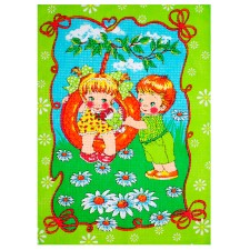 Полотенце вафельное Детки