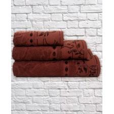 Набор махровых полотенец жаккард